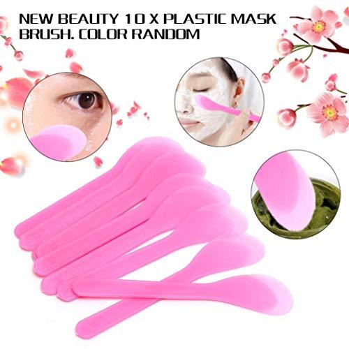 Gaddrt Homemade Masque DE 10 pcs Brosse Plastique du Visage Cuillère bâton Maquillage Beauté DIY Outil