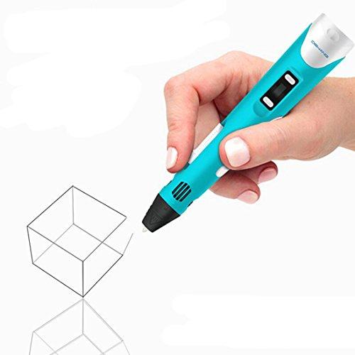JEssie Set de bolígrafo 3D con pantalla LCD, bolígrafo de impresora 3D, bolígrafo de presión 3D, regalo creativo para niños, adultos, garabatos, dibujo y arte y obras de arte hechas a mano