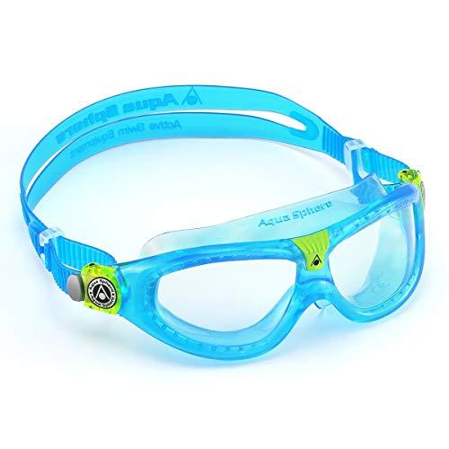 Aqua Sphere Kinder Schwimmmaske Seal Kid 2 Klare Gläser - Aqua