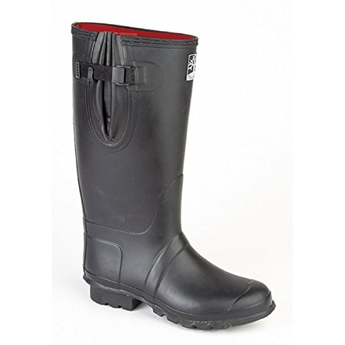 woodland-neoprene-adjustable-wellington-boot-black-uk-size-8