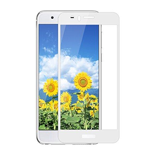 Film Vitre de Protecteur écran Pour Huawei Honor 8, Protection Verre Trempé Ultra Slim, Porcelaine Plein écran, Facile à Poser, Ultra Clair Haute Transparence et Ultra Résistant, Blanc