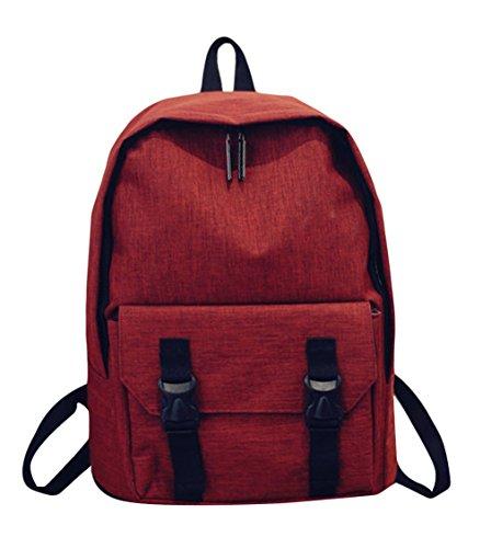 La Vogue-Zaino Unisex Vintage Zainetto Scuola Computer Borsa Montagna 43*28*16cm Blu Rosso