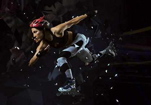 wandmotiv24 Fototapete Fitness Inlineskaten XXL 400 x 280 cm - 8 Teile Fototapeten, Wandbild, Motivtapeten, Vlies-Tapeten Skaten, Sport, Ausdauer M5707