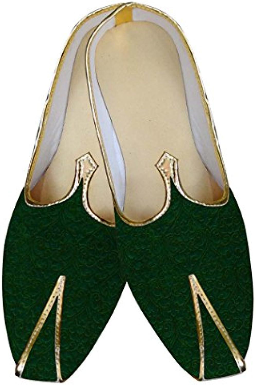 INMONARCH Hombres Green Boda Zapatos Diseñador MJ014717