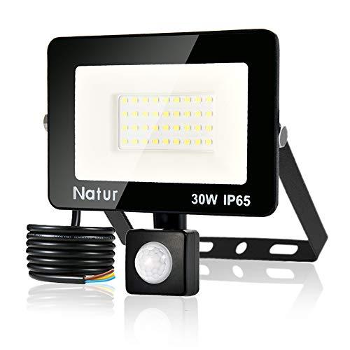 30W Foco LED con Sensor de Movimiento,Super Brillante 6000K Focos LED Exterior...