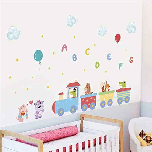 ugzeug Brief Ballon Wandaufkleber Für Kinderzimmer Kinder Wandtattoo Party Wohnkultur ()