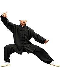 KIKIGOAL Ropa De Taijiquan Práctica, Ropa De Tai Chi, Sub-Algodón y Lino Vestido De Artes Marciales De Viento Chino, Disfraz De Estilo Chino