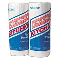 Boardwalk Paper Towel Rolls Perforated 2-Ply White 85 Sheets/Roll 30 Rolls/Carton by BOARDWALK