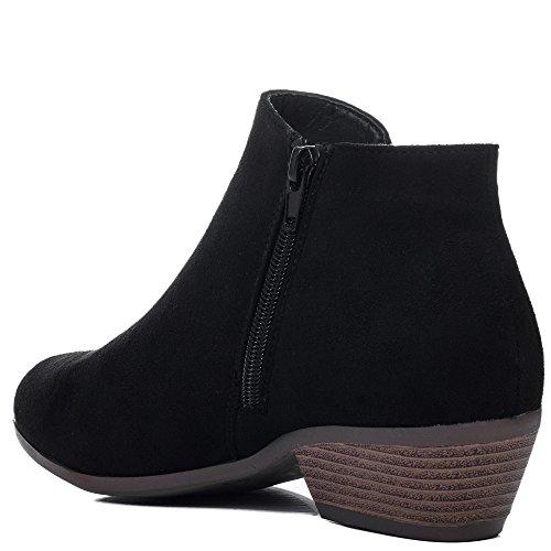 Femmes Daim Talon Noir Aiguille Chaussures Bottines à Simili SPYLOVEBUY SPYCHASE OAzvqn5