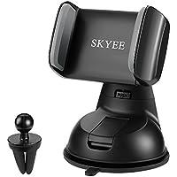 SKYEE [2-in-1] Supporto Auto Smartphone con Ventosa Potente Porta Cellulare per Cruscotto Dashboard Parabrezza/Bocchette dell'aria, Universale Supporti per Cellulari, iPhone X /8 /8 Plus, Samsung S8 e altri