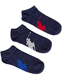 Polo Ralph Lauren 3pcs Polo Grand Joueur Entraîneur Chaussettes Hommes, Marine