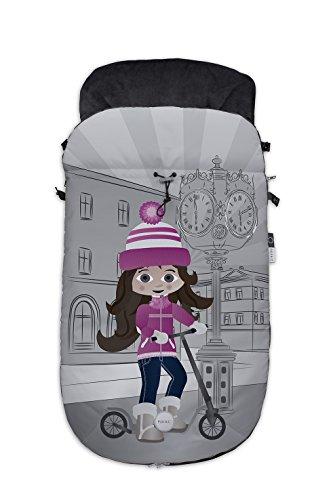Fuli&co Monaco - Saco universal para todas las sillas de paseo, color rosa