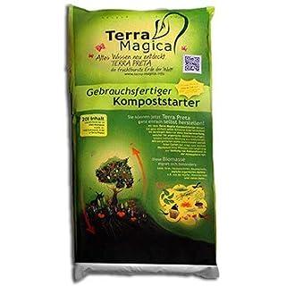 Terra Magica ® – Kompoststarter zur Herstellung eigener Terra Preta - Schwarze Erde selbst herstellen - Inhalt ausreichend für 200 Liter Biomasse (20 Liter Beutel)