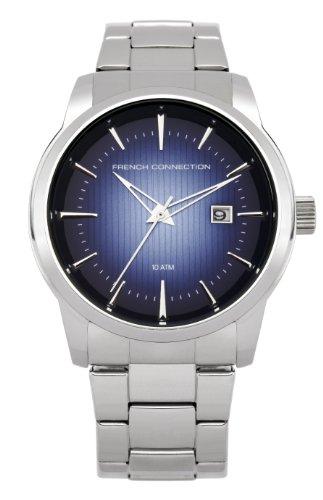 French Connection FC1111SUM - Reloj analógico de cuarzo para hombre con correa de acero inoxidable, color gris