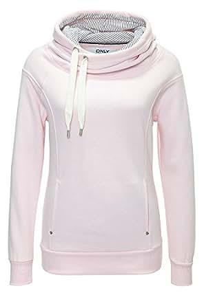 Only Damen Sweatshirt Spring Jalene (S, Rosa)