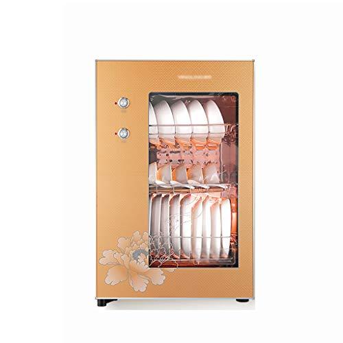 MXRqndqa Wärmegeräte Desinfektionsschrank 60L Kleiner vertikaler Desktop-Desinfektionsschrank aus Edelstahl (Größe: 425x365x655mm, Rot, Gold, Zwei Farben können wählen) (Farbe : Gold)