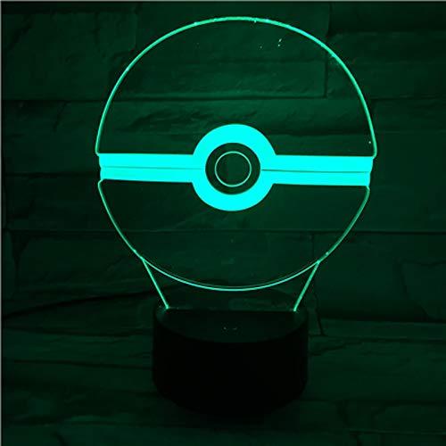 Pokemon Go Ball Kindernachtlicht LEDUsb Touch Sensor Farbwechsel Schlafzimmer Atmosphäre Acryl Tischlampe Kopfteil -