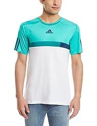 adidas Bar. Tee - Camiseta para hombre, color verde / azul / blanco