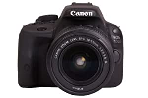 Canon EOS 100D DSLR Camera with EF-S 18-55mm III Lens - Black (18MP, CMOS Sensor) 3 inch Touch Screen LCD