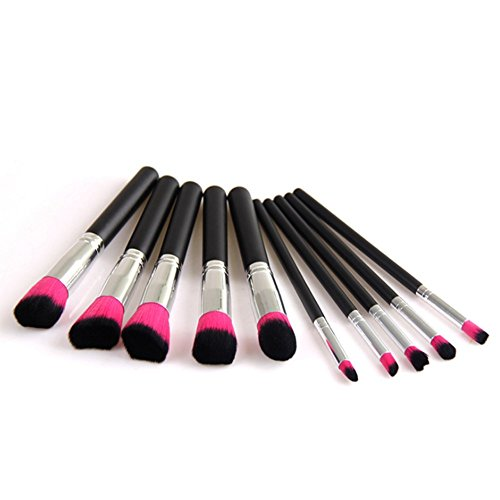 Cdet Brosses à cheveux de fibre Professionnel Teint Eyebrow Shadow Makeup Blush Kit Pinceau Ensemble brosse à maquillage Brosse à maquillage Maquillage Outils Style simple 10PCS