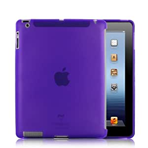 Kolay TPU Gel Case for iPad 2, Compatible with Apple Smart Cover for iPad 2), Black APPLE iPAD 3 & 4  - Purple