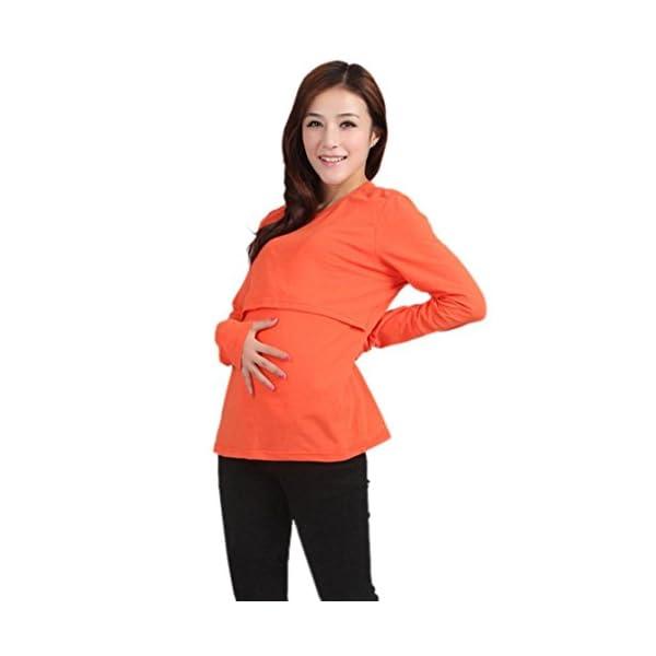 Koly® Maternity Breastfeeding Long Sleeve Shirt Blouse Pregnant Clothes Nursing Tops