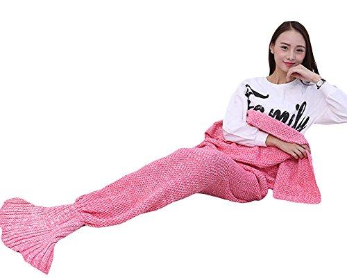 Meerjungfrau Schwanz Decke für Erwachsene handgefertigt Strick Warm Ihre Füße Schlafsack