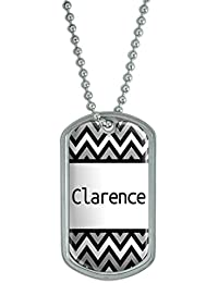 Dog Tag Pendant Necklace Chain Names Male Cay-Cl - Clarence