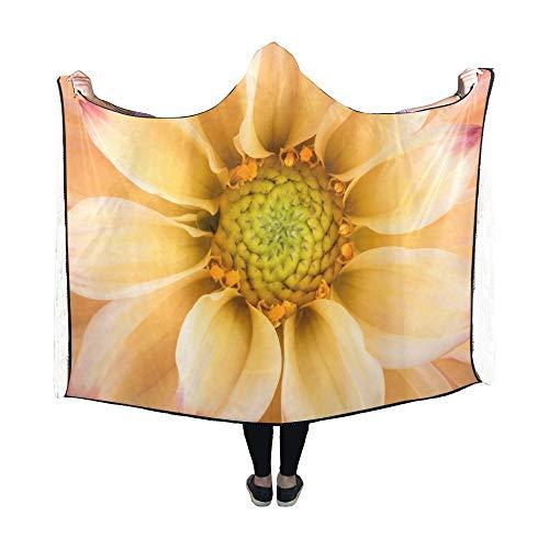 JOCHUAN Mit Kapuze Decke Dahlia Bunte Blume Makro Schuss Decke 60 x 50 Zoll Comfotable Hooded Throw Wrap -
