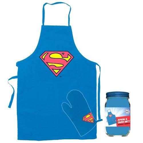 r sdtwrn89171DC Comics Superman Schürze und Küche Handschuh Figur ()