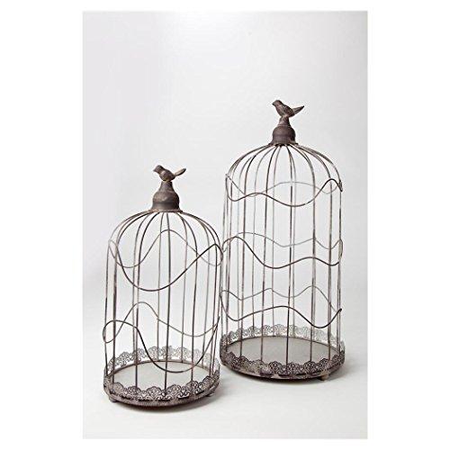 Deko Vogelkäfig rund 54+20cm Smithy 2er Set Geschenk-/Briefbox