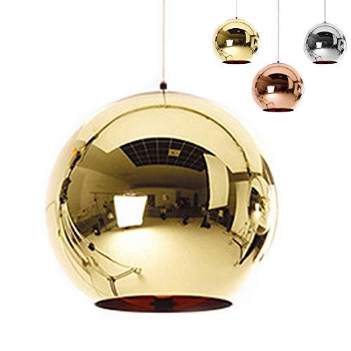 ✨Industrial espejo moderno bola colgante Lámpara de cristal, espejo ajustable bola colgante Ligh...