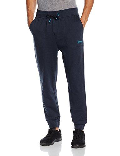 BOSS Hugo Boss Herren Sporthose Long Pant Cuffs, Blau (Dark Blue 407), 50 (Herstellergröße: M)