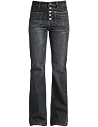 Fashion Victim Rockabilly Jeans Jean Femme gris foncé