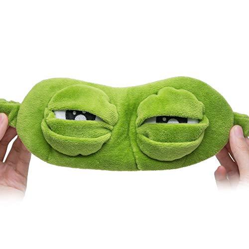 NOTE 1 Stücke 3D Traurig Frosch Schlafmaske Reise Relax Rest Schlafmittel Augen Abdeckung Augenbinde Augen Patch Schlaf Schatten Anime Cosplay Kostüme C1360