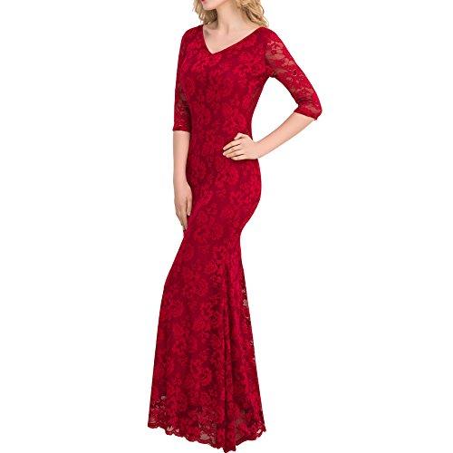 Valin Ov1057 Damen Abendkleid Rot