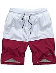 Okany Maillot De Bain Homme Boxer Trunks Shorts Pantalon Court De Sport Plage Mer Loisir Swim Bermudas Élastique Réglable Bande Été