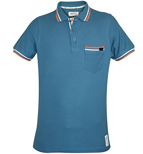 Mens cross Hatch Short Sleeve T-Shirt Summer 100% kenie Printed farmacocinetici Polo Top Blu inchiostro