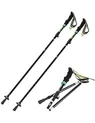 OUTAD Bastones de Senderismo Trekking Esquí Ligeros y Plegables 35cm de Longitud (2 unidades)