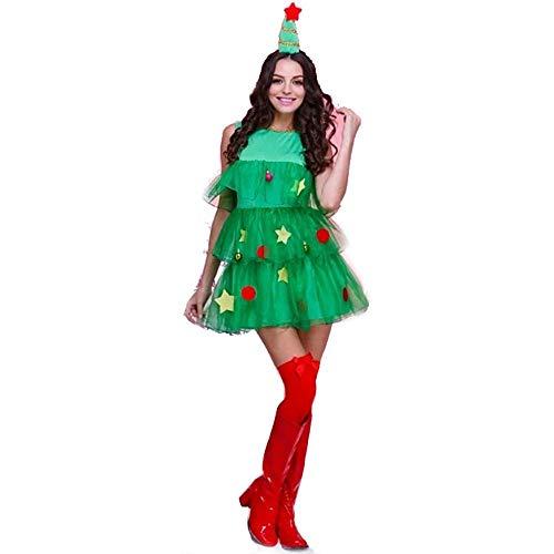 Weihnachten Meine Damen Cosplay Kostüme Für Frauen Weihnachten Weihnachtsbaum Weihnachten Kostüme Santa Claus Kleidung Bärte Und Hüte, Grün, Größe