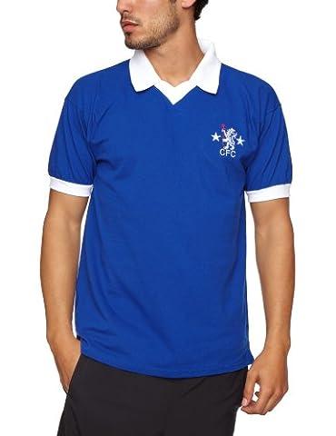 Score Draw Official Retro Chelsea 1976 Men's Football Shirt - Royal, X-Large