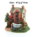 Artificial Mini Micro Landscape House Resin Crafts Fairy Garden Decoration Home Miniature Garden Decoration Accessories (Style 6