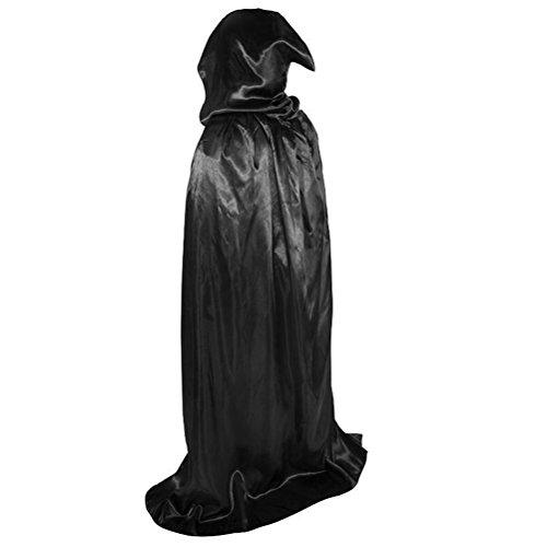 lloween Lange mit Kapuze Umhang Partei Kostüm -Herren Damen Fasching Cosplay Grim Reaper Count Dracula Cloak ()