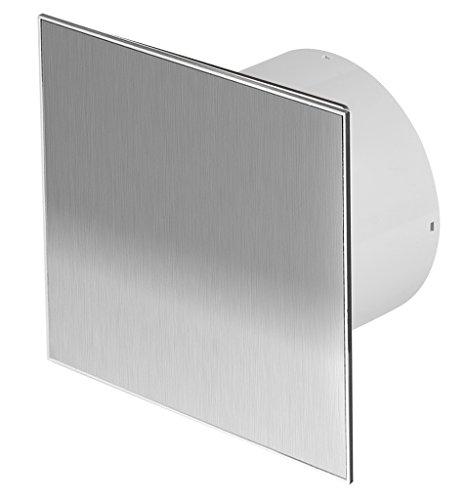 Diámetro 100Mm Diseño baño Ventilador Acero Inoxidable con temporizador/seguimiento y válvula antirretorno...