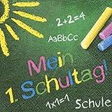 Servietten (2er Set / 40Stück) 3-lagig 33x33cm Schulanfang Einschulung (Mein erster Schultag)