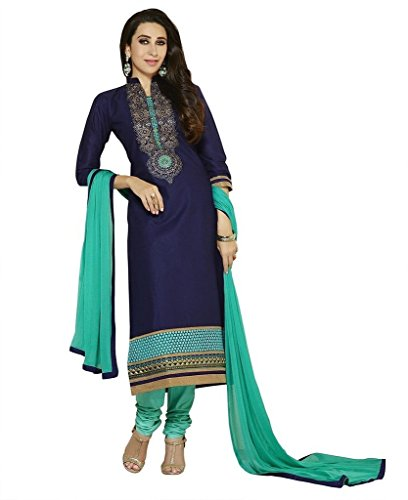 Little lady Women's Printed Unstitched Regular Wear Salwar Suit Dress Material (LP_DM_PURPLE_122)  available at amazon for Rs.199