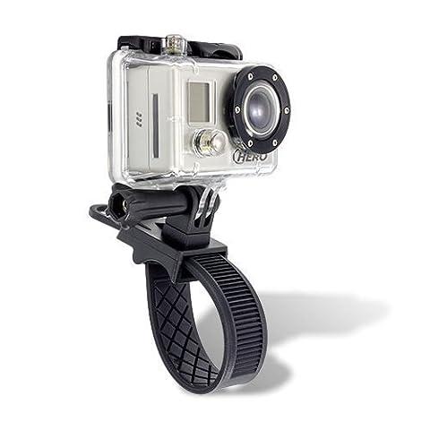 ChargerCity Hero GoPro Exclusif 1 2 3 Hero2 Hero3 Caméscope Caméscope action de vélos Bike Motorcycle Mount Kit avec adaptateur de caméra, vis, d'écrous et de boulons Bouton Bracelet barre de verrouillage Poignée mont (GO Camera Pro n'est pas incldued à l'achat)