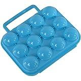 Hoomall Pliable Boîte de Transport en Plastique à 12 Oeufs pour Pique-nique ou Voyage