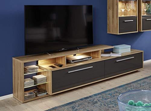 trendteam smart living Wohnzimmer Lowboard Fernsehschrank Fernsehtisch Kuba, 212 x 52 x 42 cm in Korpus Alteiche Dekor,...