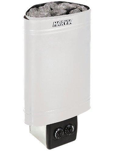 Harvia Delta Saunaofen Eckmodell - D36 3,6 kW mit integrierten Steuergerät, Edelstahl
